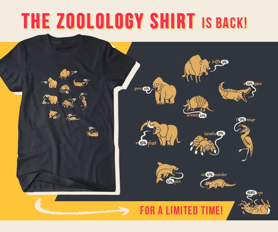 ZooLOLogy is BACK by popular demand! @DFTBArecords is helping us reprint it in a new colorway as a LIMITED TIME preorder! Cant guarantee this one will stick around, so snag it now if its been on your list! 🐘🐊🐂🐬✨ store.dftba.com/collections/jo…