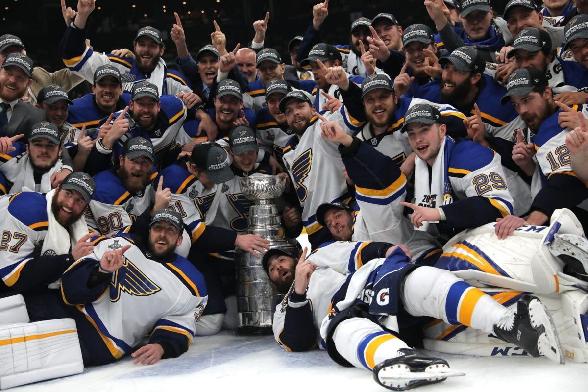 Two months ago history was made in St. Louis Two months ago Blues fans witnessed something that has never been done Two months ago a parade was being planned down Market Street Two months ago the St. Louis Blues won their first ever Stanley Cup We will never forget this.