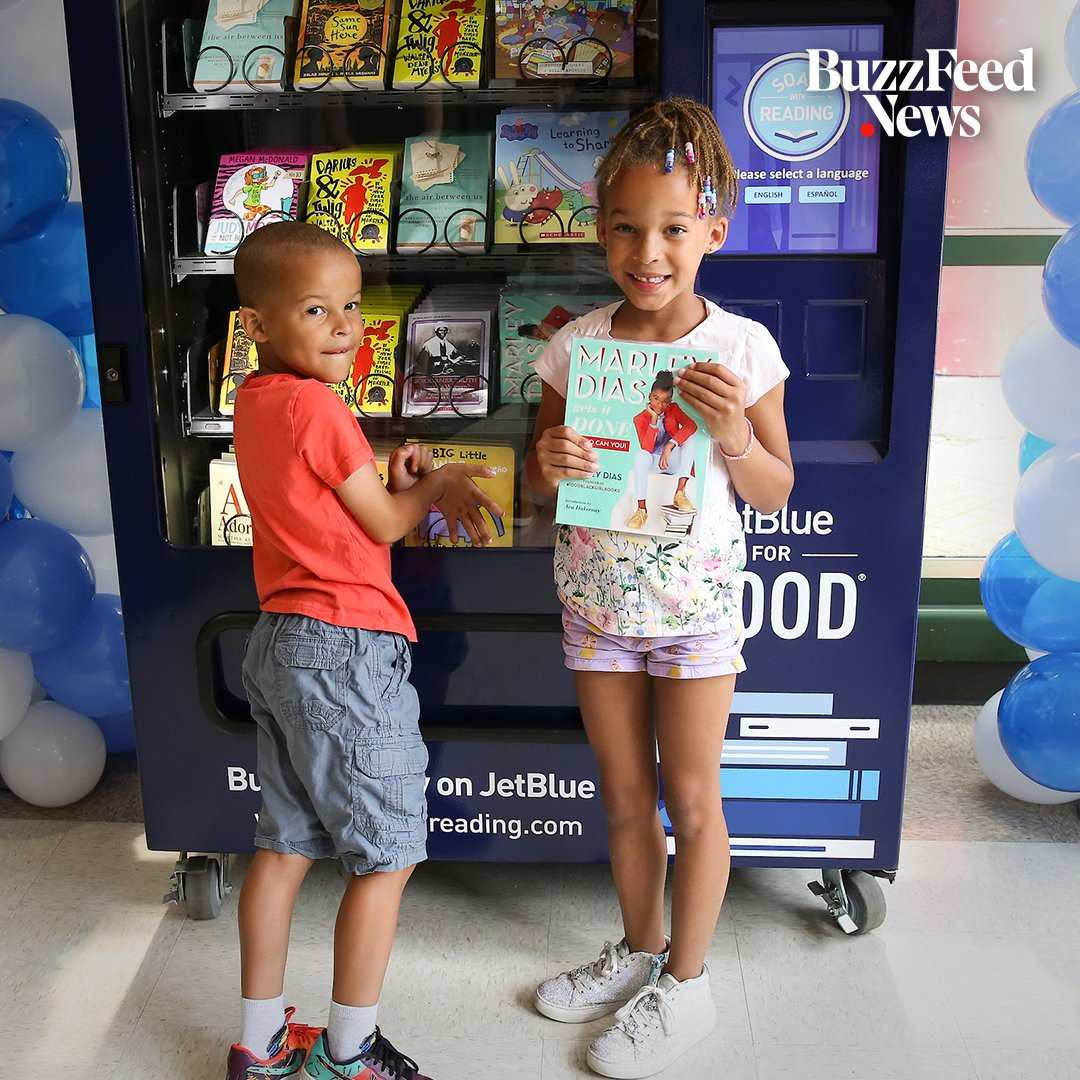 There are now vending machines with free books for kids in New York City 📚