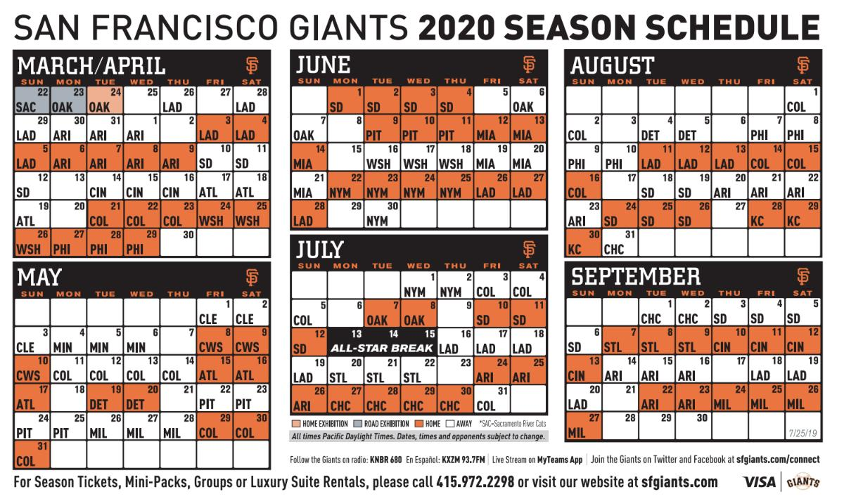 Sf Giants Home Schedule 2020.Kristy On Twitter They Choose Not To Open At Home So They