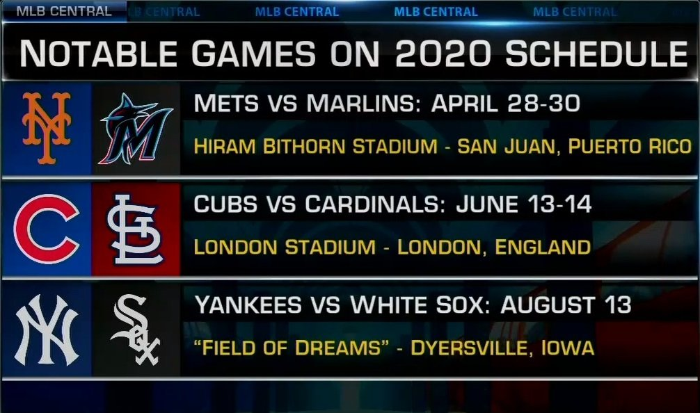 Mlb 2020 Schedule.Mlb Network On Twitter The 2020 Mlb Regular Season