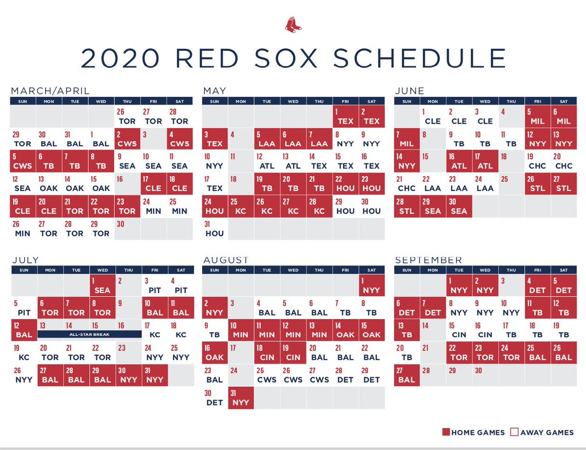 Mets 2020 Printable Schedule.Pete Abraham On Twitter Redsox 2020 Schedule
