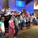 Image for the Tweet beginning: Backpacks of Blessing prayer time