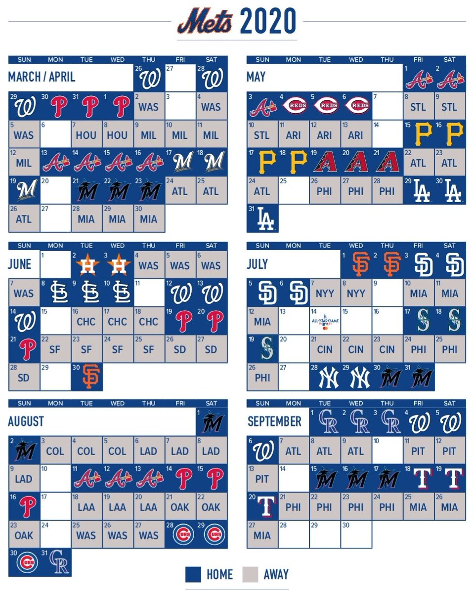 Mets Home Opener 2020.Anthony Dicomo On Twitter The Mets 2020 Schedule Is Out