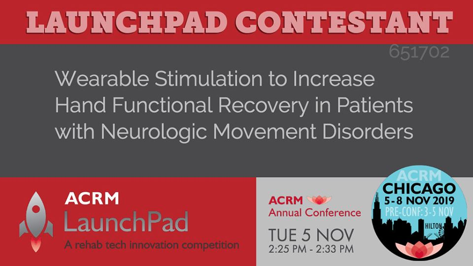 ACRM2019 Wearable Stimulation to Increase Hand Functional Recovery