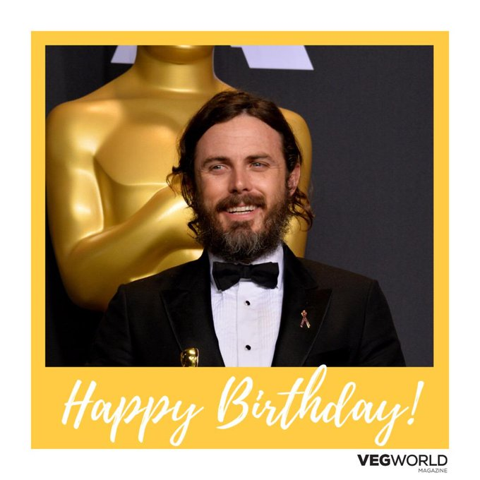 Happy birthday to Academy Award winner and vegan Casey Affleck!