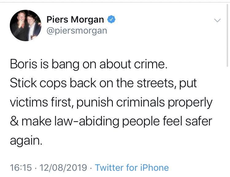In case you needed any more proof that @BorisJohnson's announcements on criminal justice are irredeemably stupid and wrong, here's the missing ingredient in the twat salad.
