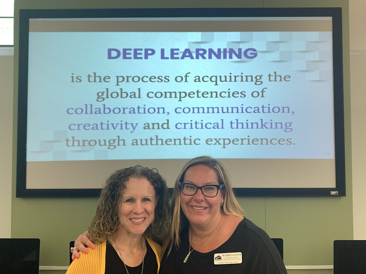 Dr. Rebecca Sulaver and Ms. Stef Geeve present on Deep Learning at Back to School Institute. Go West!