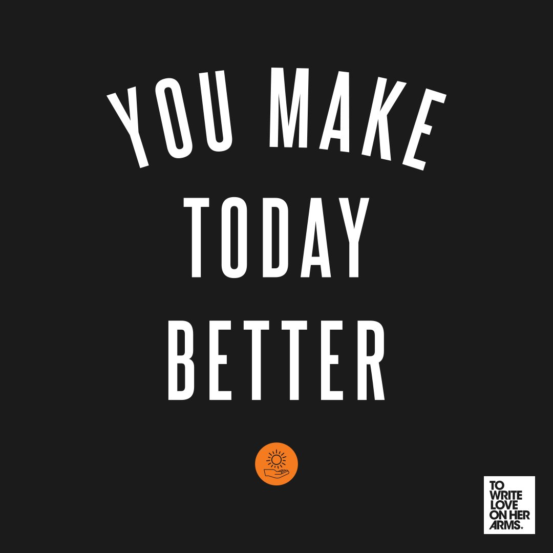 Our friends at @TWLOHA just launched their #YouMakeTodayBetter campaign! Find out how you can use your voice and story to help prevent suicide. Learn more here: wrt.lv/WSPD19 #WSPD19
