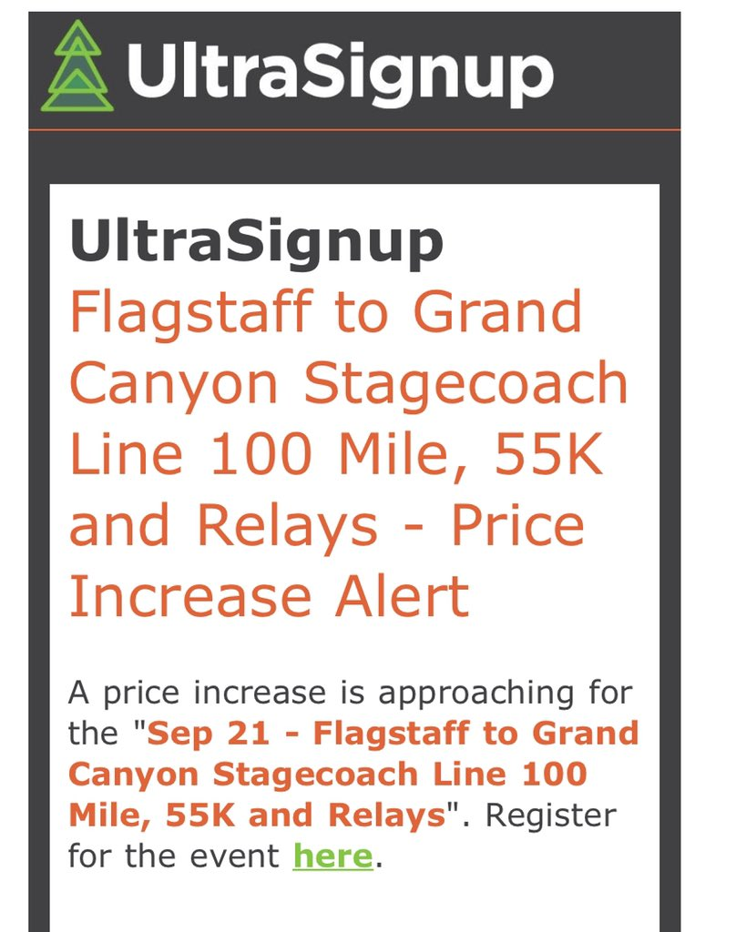 2019 prices increase soon! @itgoesinflag @AZTRAIL #stagecoach100