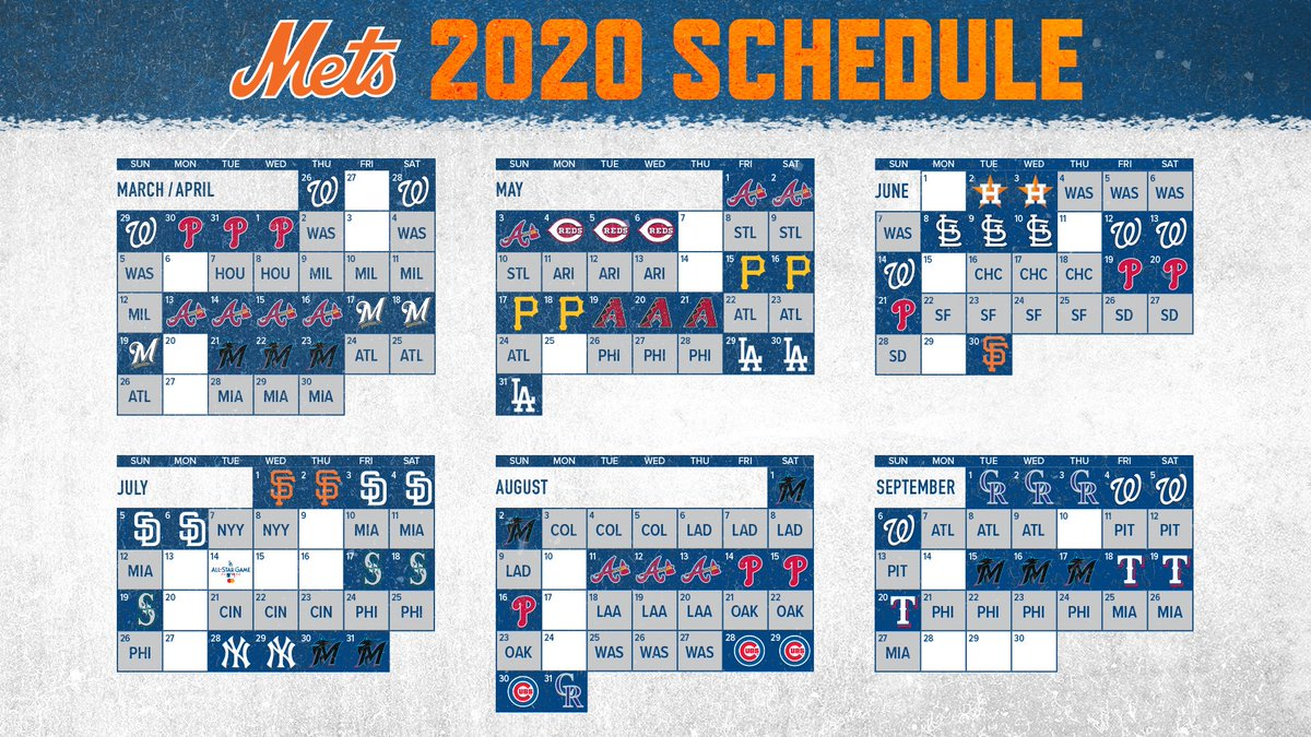 Mets Home Opener 2020.New York Mets On Twitter Check Out Our Full 2020 Schedule