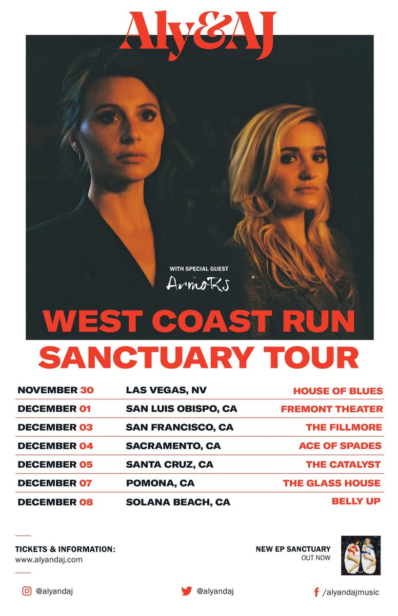 Image result for aly and aj west coast tour