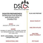 Image for the Tweet beginning: Be Prepared! DISASTER PREPAREDNESS WORKSHOP FOR