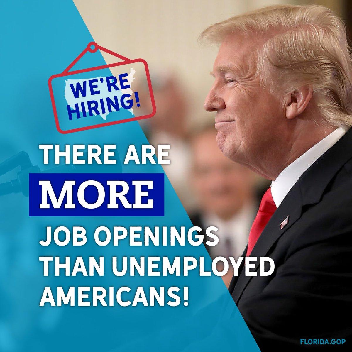 Jobs, jobs, jobs! America is thriving under President @RealDonaldTrump.