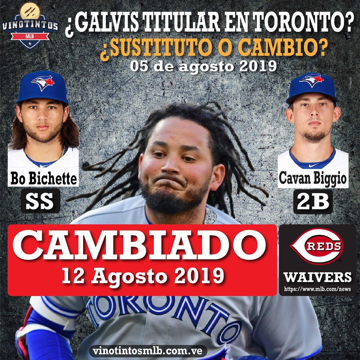 🇻🇪⚾CAMBIO REALIZADO, GALVIS A LOS ROJOS⚾🇻🇪 Los Rojos de #Cincinati reclamaron a #Freddy #Galvis de #Waivers el día de hoy 12 de Agosto. El de #Venezuela se unirá al equipo este martes cuando los #Reds jueguen contra Los #Nacionales.