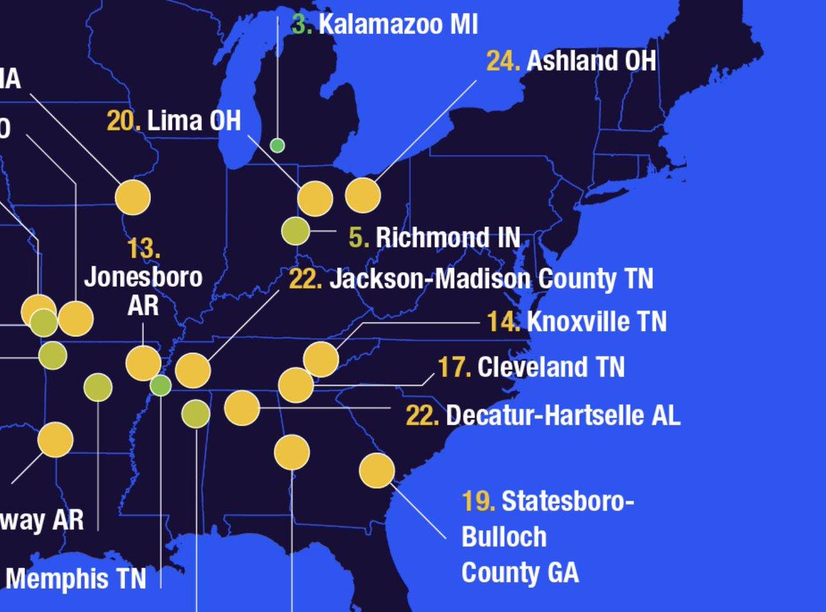 Yahoo Map Of Georgia.Yahoo Finance On Twitter The 25 Least Expensive U S Cities To