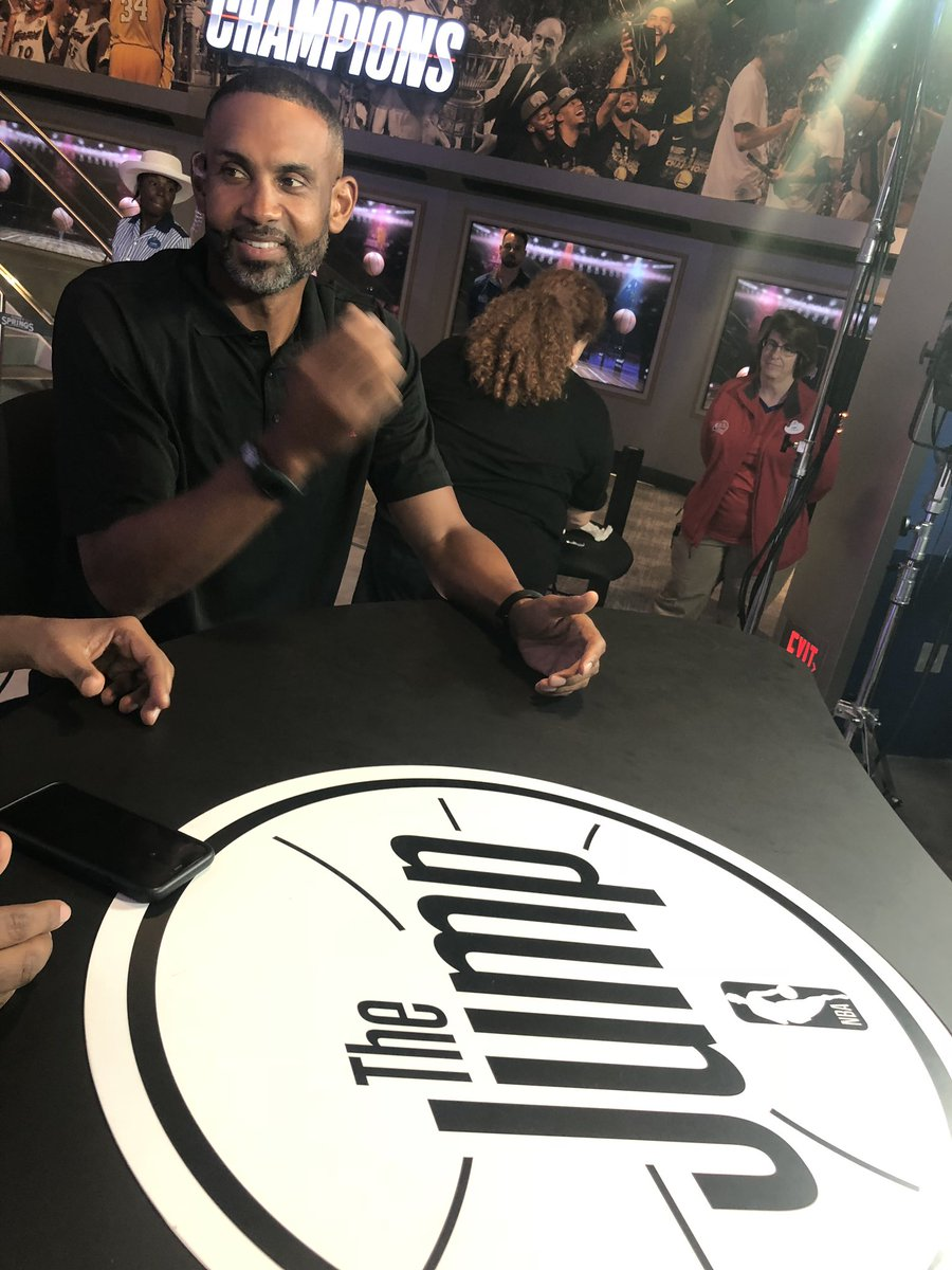 hey look it's Hall of a Famer/@NBATV star @realgranthill33 on #TheJump - coming up at 3p ET on ESPN