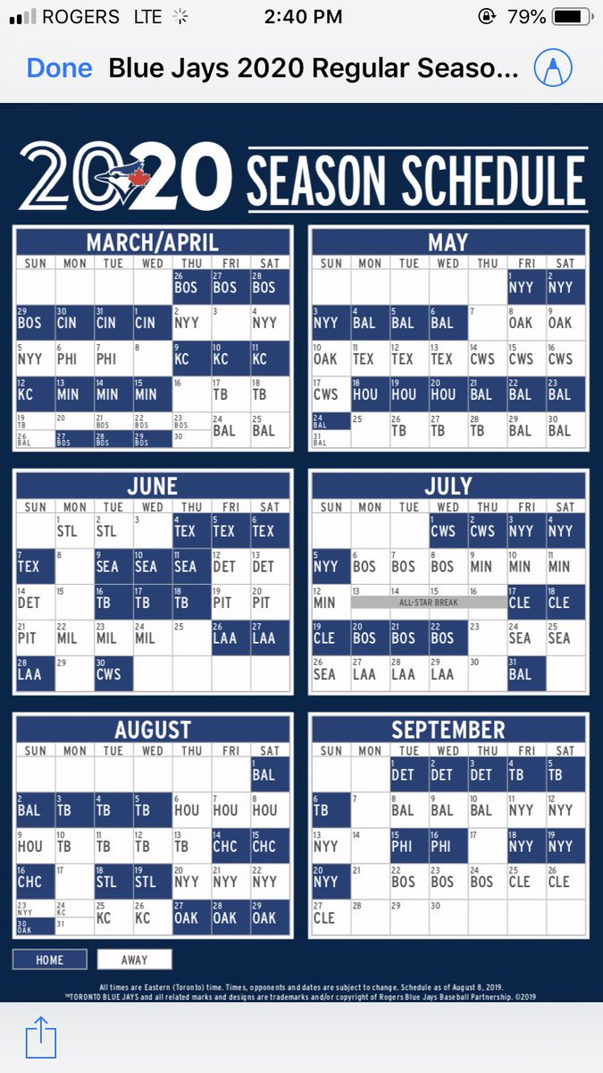 Mlb 2020 Schedule.Mike Wilner On Twitter Oh Also Mlb Announced The 2020