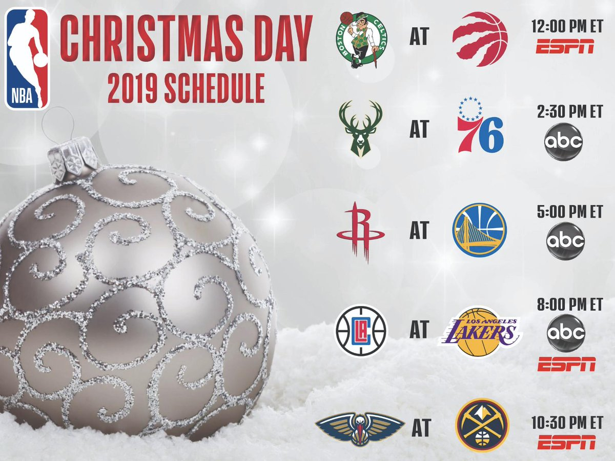 Nba Christmas Day Schedule.Tomer Azarly On Twitter The Nba S Christmas Day Schedule