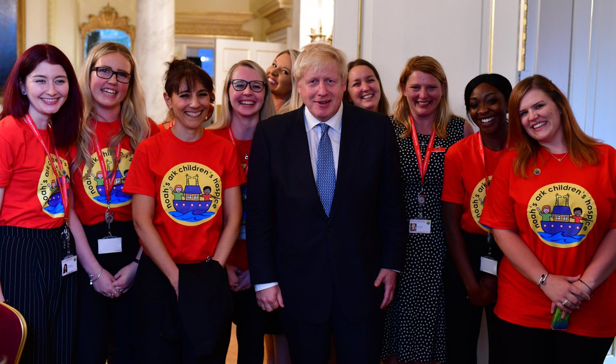 PM @BorisJohnson hosted a reception at Downing Street to thank hospice staff for their hard work, dedication and compassion.