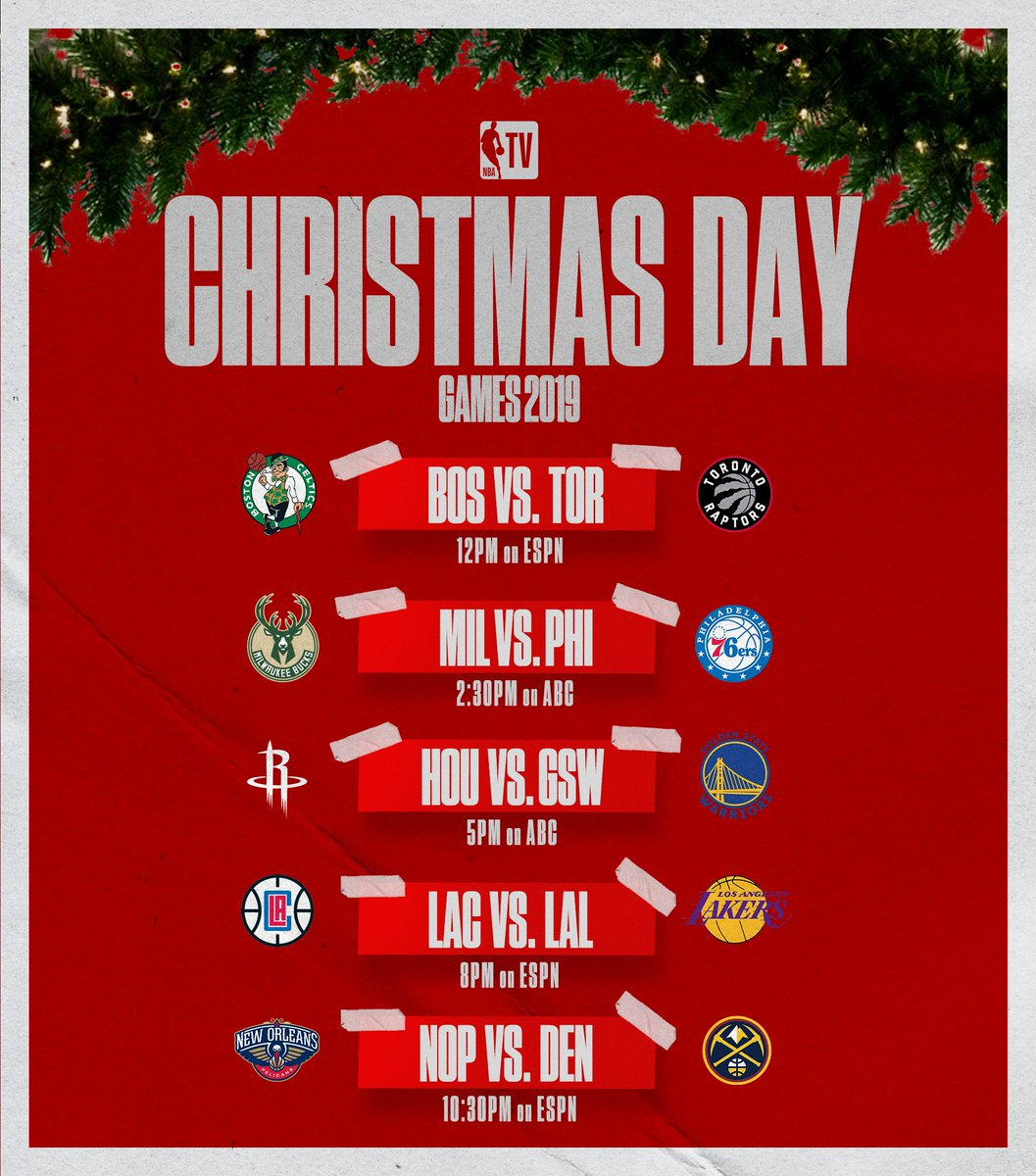 Christmas Day Nba Games 2019.Nba Tv On Twitter A Look At The 2019 Christmas Day Games