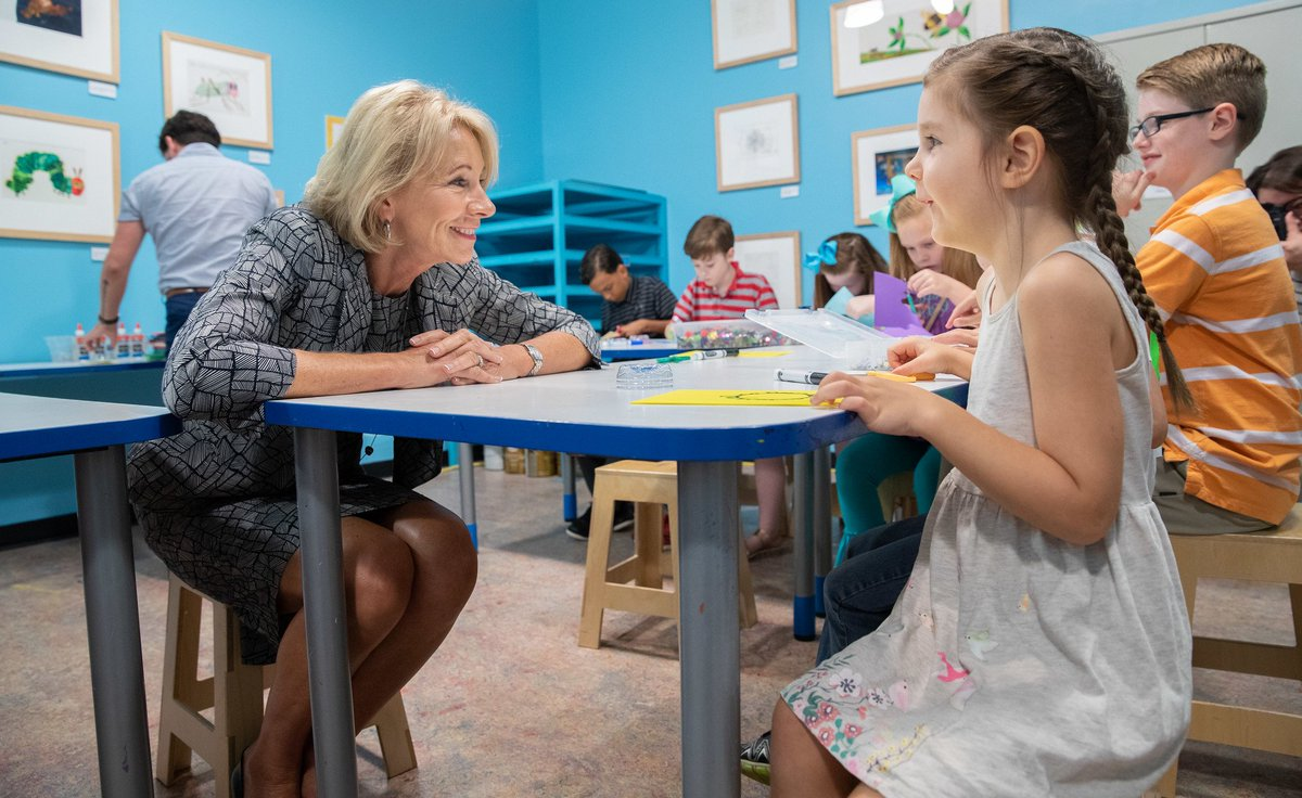 #education usedgov: #DidYouKnow? Our very own Secretary BetsyDeVosED is left-handed! 🖐️Happy #LeftHandersDay!  indritvucaj