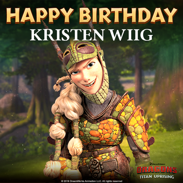 Join us in wishing Kristen Wiig, the voice of Ruffnut Thorston, a Happy Birthday!