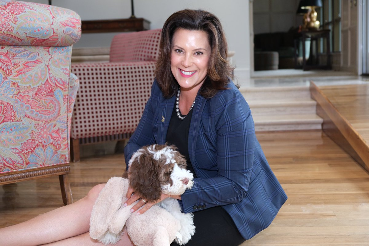 Governor Gretchen Whitmer On Twitter We Made An Addition To Our Family Meet The First Pup Kevin