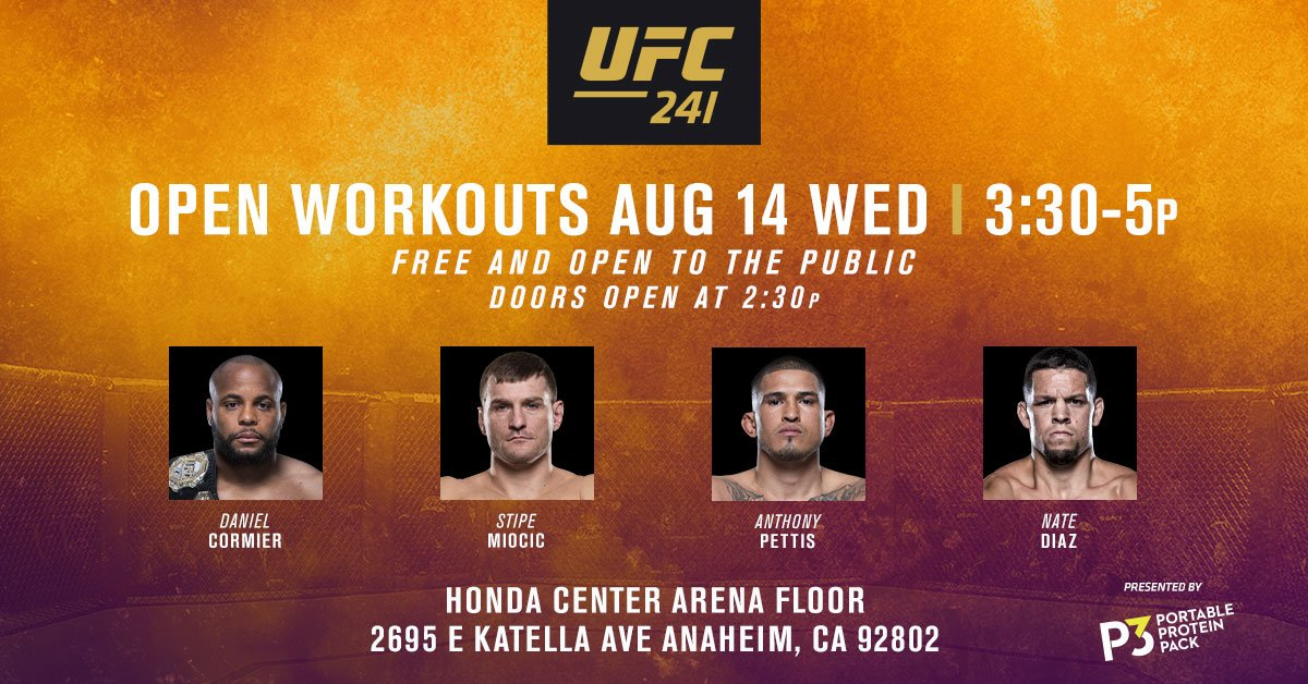 You won't want to miss this one! @P3Protein #UFC241