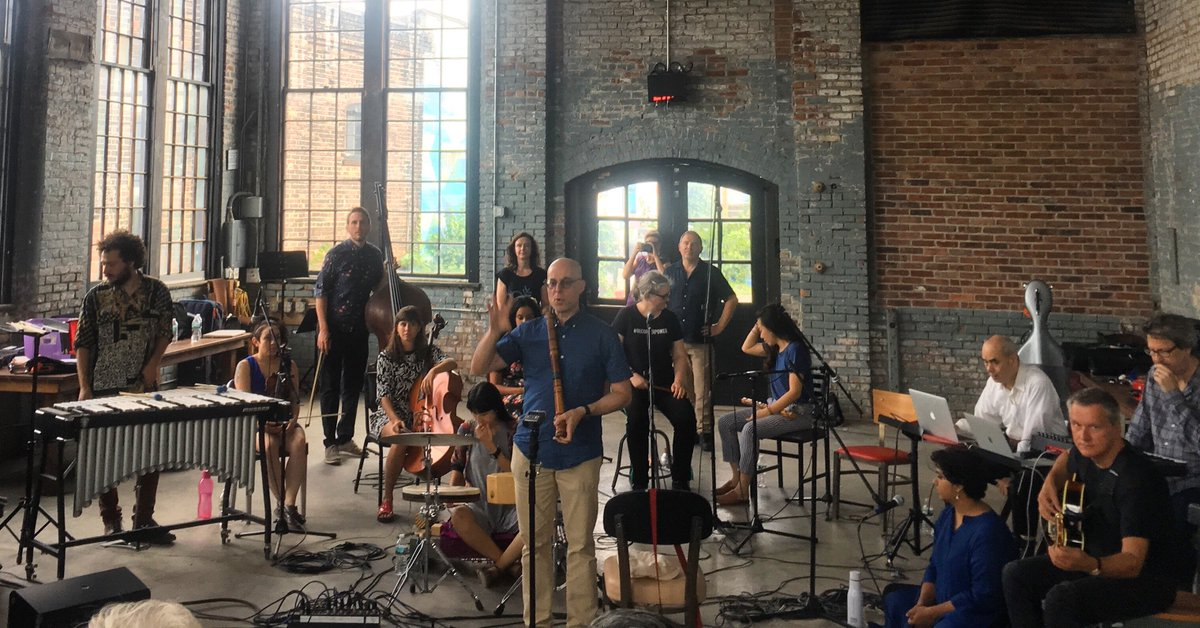 Thank you to our Hudson Valley neighbors and friends at @art_omi for bringing the incredible Improvisers Orchestra to Basilica yesterday for a celebration of art and heart and chance.