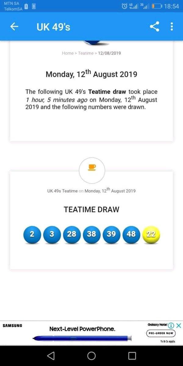 teatime lotto on JumPic com