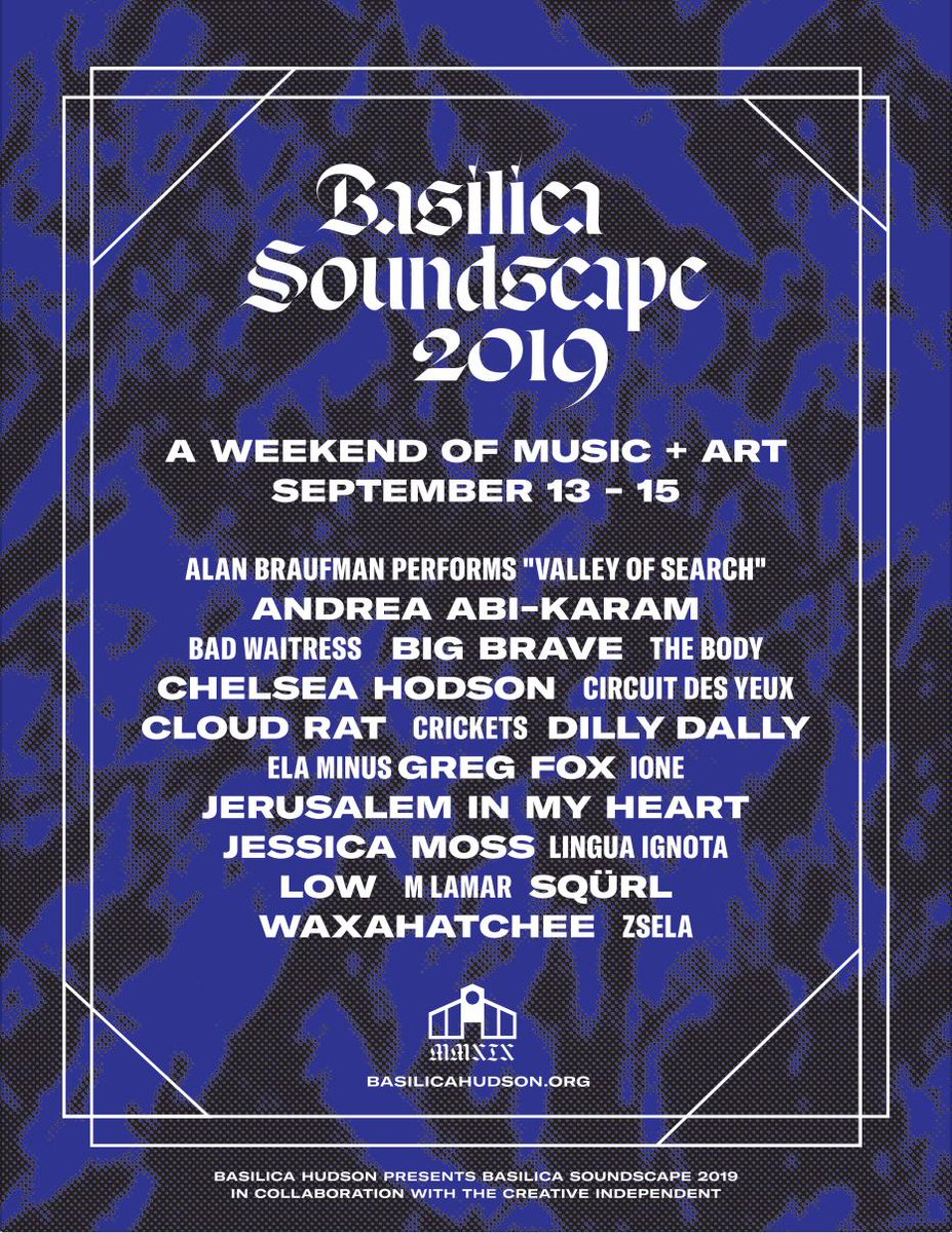 ONE MONTH TO BASILICA SOUNDSCAPE Advance tickets selling fast. Dont miss them! Tickets/lineup/info here: bit.ly/basilicasounds… #BSS19