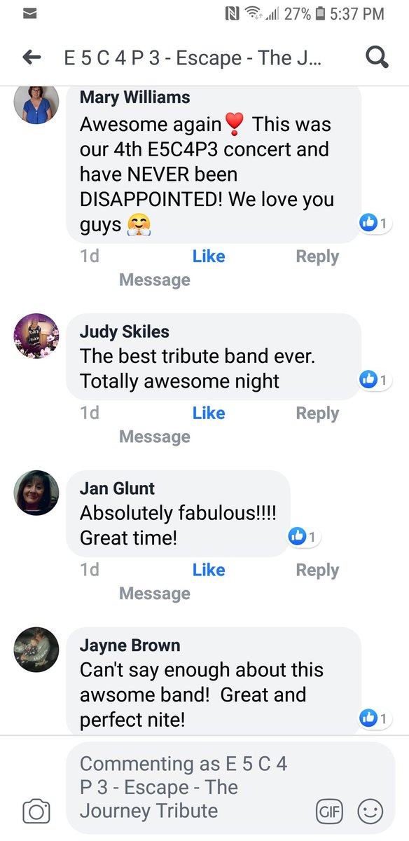 A few reviews from our show this past weekend! #Huge shows coming up this month, next up this Saturday Aug 17th Warren Ohio Amphitheater, see you all then! #Journey #TributeBand #DontStopBelievin <br>http://pic.twitter.com/wVxxgeHEvj