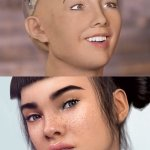 "@MiquelaUK @lilmiquela @blawko22 @bermudaisbae ""Real"" Miquela vs Insta Miquela. Jokes aside the industry has a lot to learn from you @brudfyi #WerkThatCGIrealness"