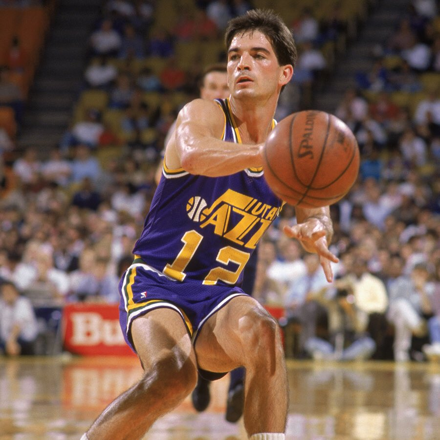 #NBAAssistWeek x John Stockton  What is your favorite dime from the NBA's all-time leader in assists?