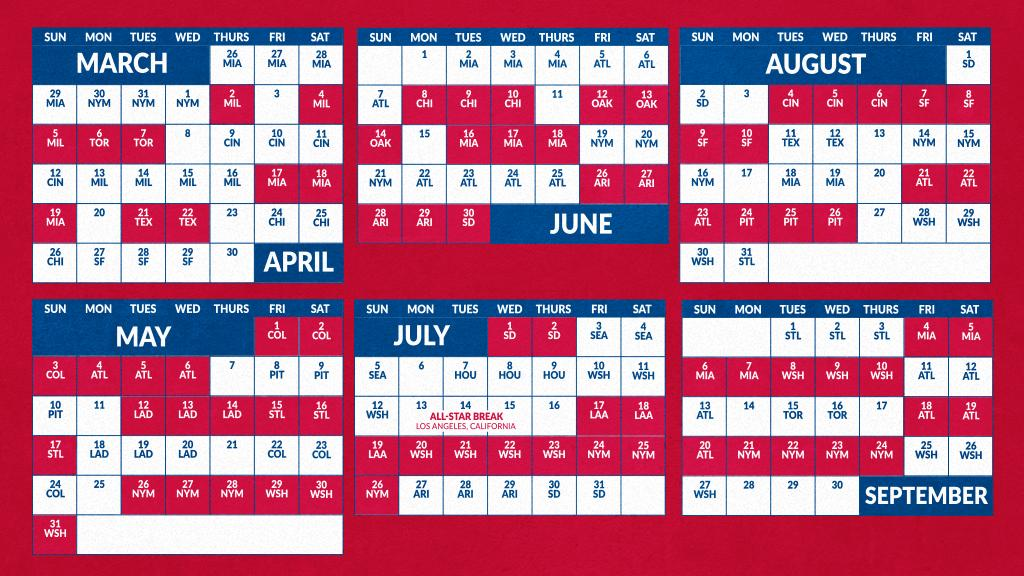 Phillies Home Opener 2020.Philadelphia Phillies Schedule 2020 Schedule 2020