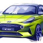 Image for the Tweet beginning: Nuova Hyundai i10, il primo