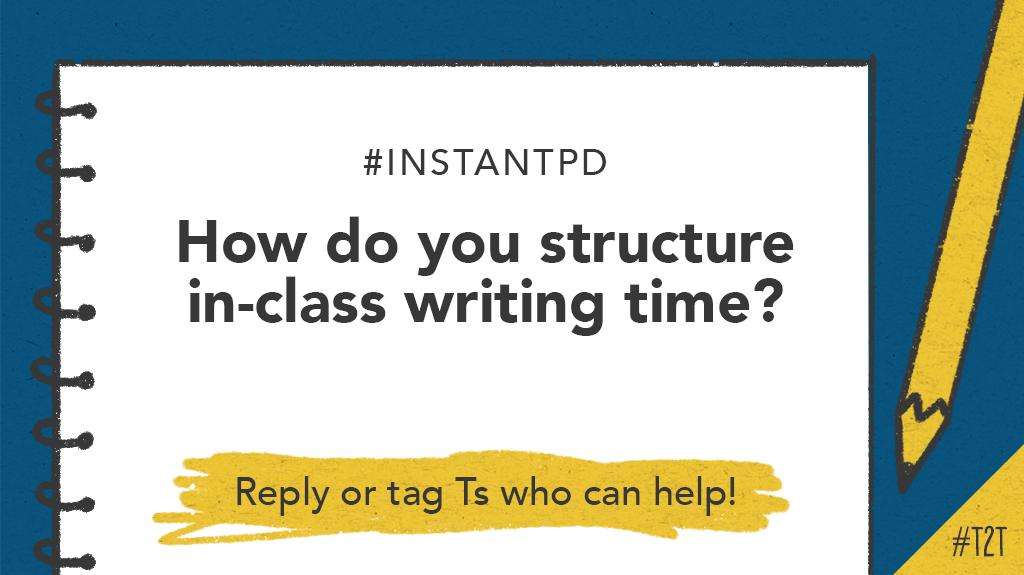 T @TheLiterateTchr wants to know how you coordinate in-class writing time: Do you allow discussion or encourage a silent environment – or do a bit of both? #InstantPD #WritingWorkshop #TeachWriting #EngChat #ELAchat<br>http://pic.twitter.com/7AQSQFoLuK