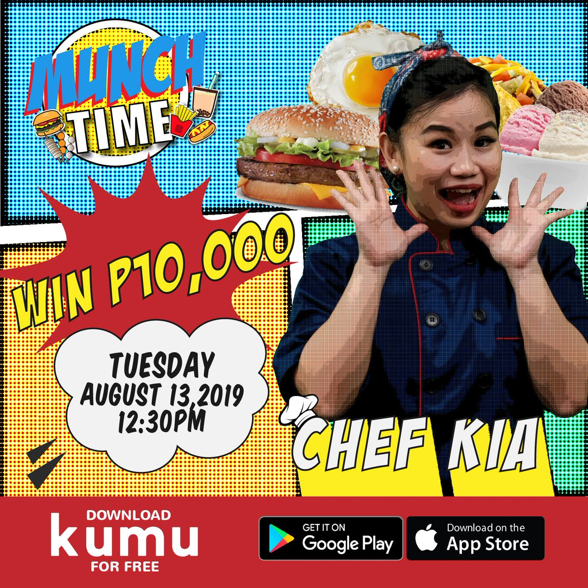 Excited na ba kayo for 12:30? Cause it's MUNCH TIME! Answer