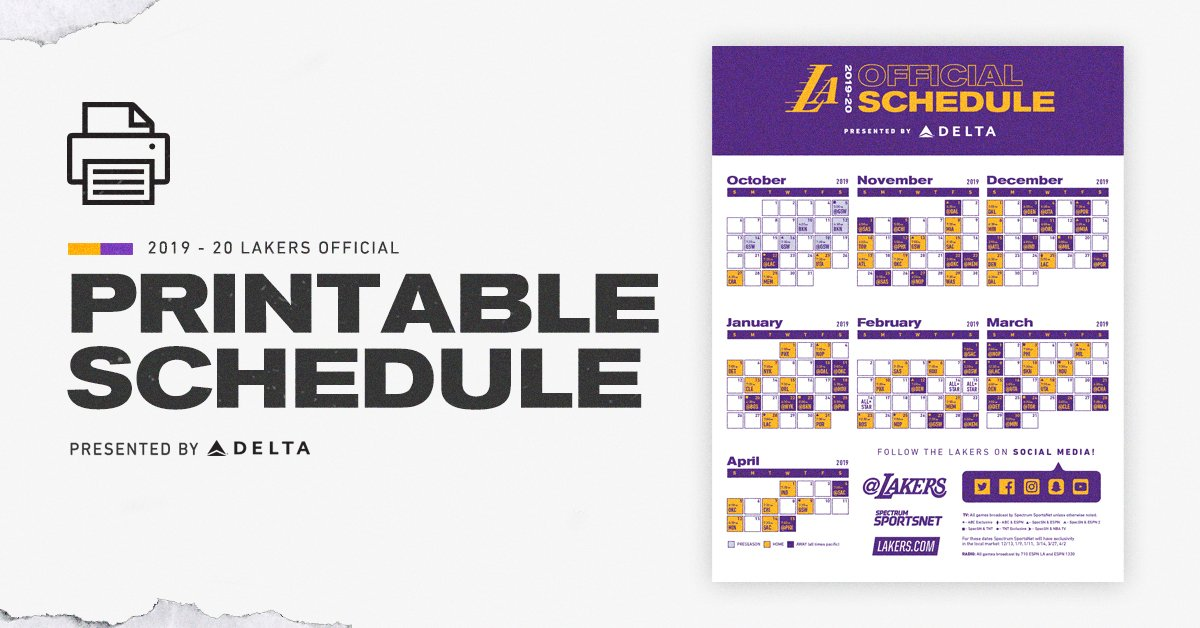 Lakers Schedule 2020.Los Angeles Lakers On Twitter 2020 Lakeshow Coming Soon