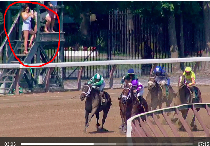 during my saratoga replay work today I found a very nice looking filly that isn't in anyone's stable mail