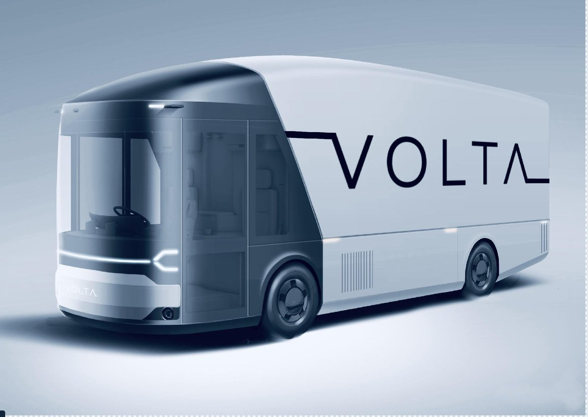"""Prodrive a Twitteren: """"We're helping Volta to bring their zero emission, fully electric truck to fruition as fast as possible. It's designed to fully exploit the electric powertrain; optimising payload and creating"""