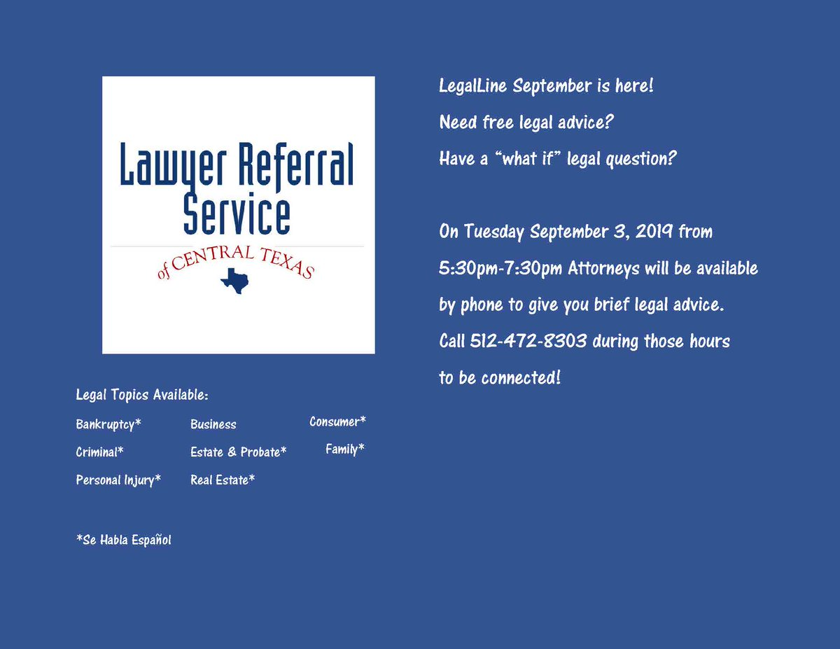 The Lawyer Referral Service of Central Texas (@AustinLRS