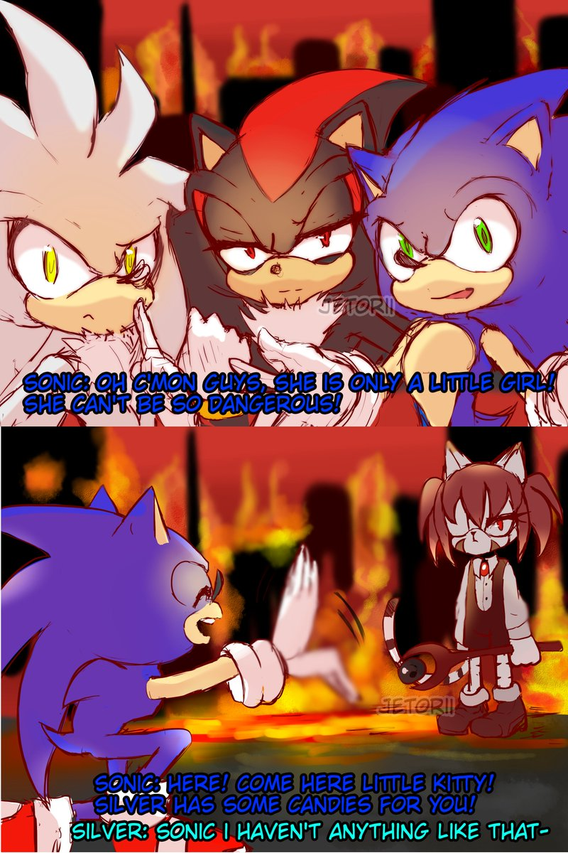 Jetorii On Twitter A Little Stupid Comic About Sonic Shadow And Silver With My Oc Morgiana Hope You Will Like It Sonicthehedgehog Shadowthehedgehog Silverthehedgehog Sonic Soniccanon Oc Sonicoc Soniccomic Funny Morgianaoak Soniccanon