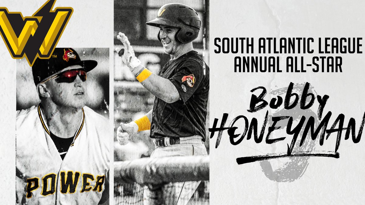 🚨 BIG NEWS 🚨  We are thrilled to announce that @BobbyHoneyman has been named a South Atlantic League Annual All-Star at third base!   Congrats Bobby! #PowerUp   DETAILS: https://t.co/Ew9Mcma0xW https://t.co/GiJ3M5YbnZ