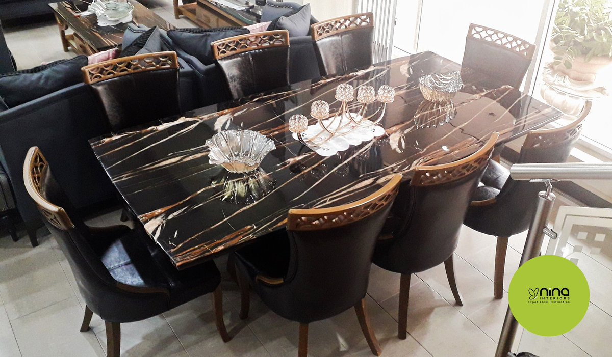 Nina Interiors On Twitter The Black 8 Seater Marble Top Dining Table Experiencedistinction As You Dine Finedining Marble Classic Tabletoptuesday Https T Co Pxamag4p8u