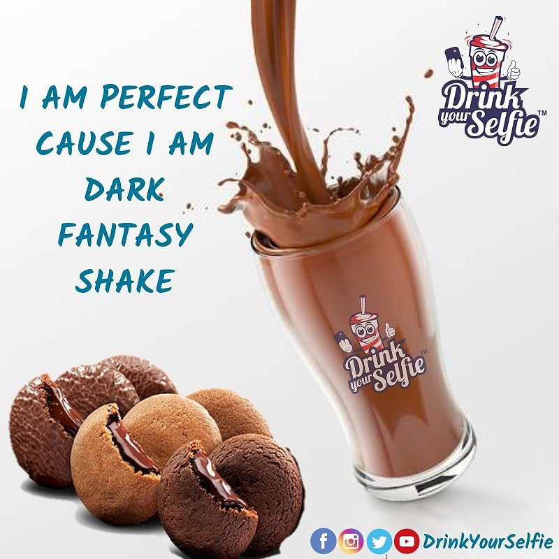 Dark Fantasy Shake – One of the finest Innovations & Special Beverage of Drink Your Selfie. No wonder it's an best-seller at all outlets. Walk-into your nearest store to experience and savour this yummiest chocolate Shake !!! #DrinkYourSelfie #foodphotography #food #foodie
