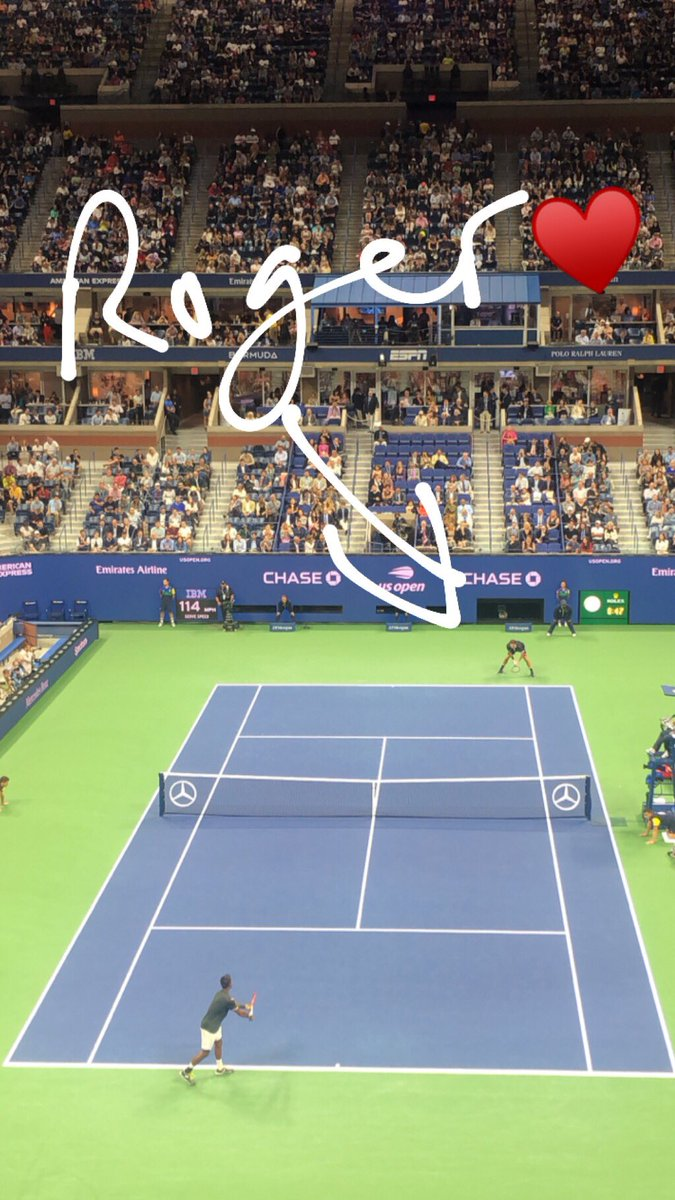 That was fun. #RogerFederer #SerenaWilliams #USOpen https://t.co/zPsHHu7mjD