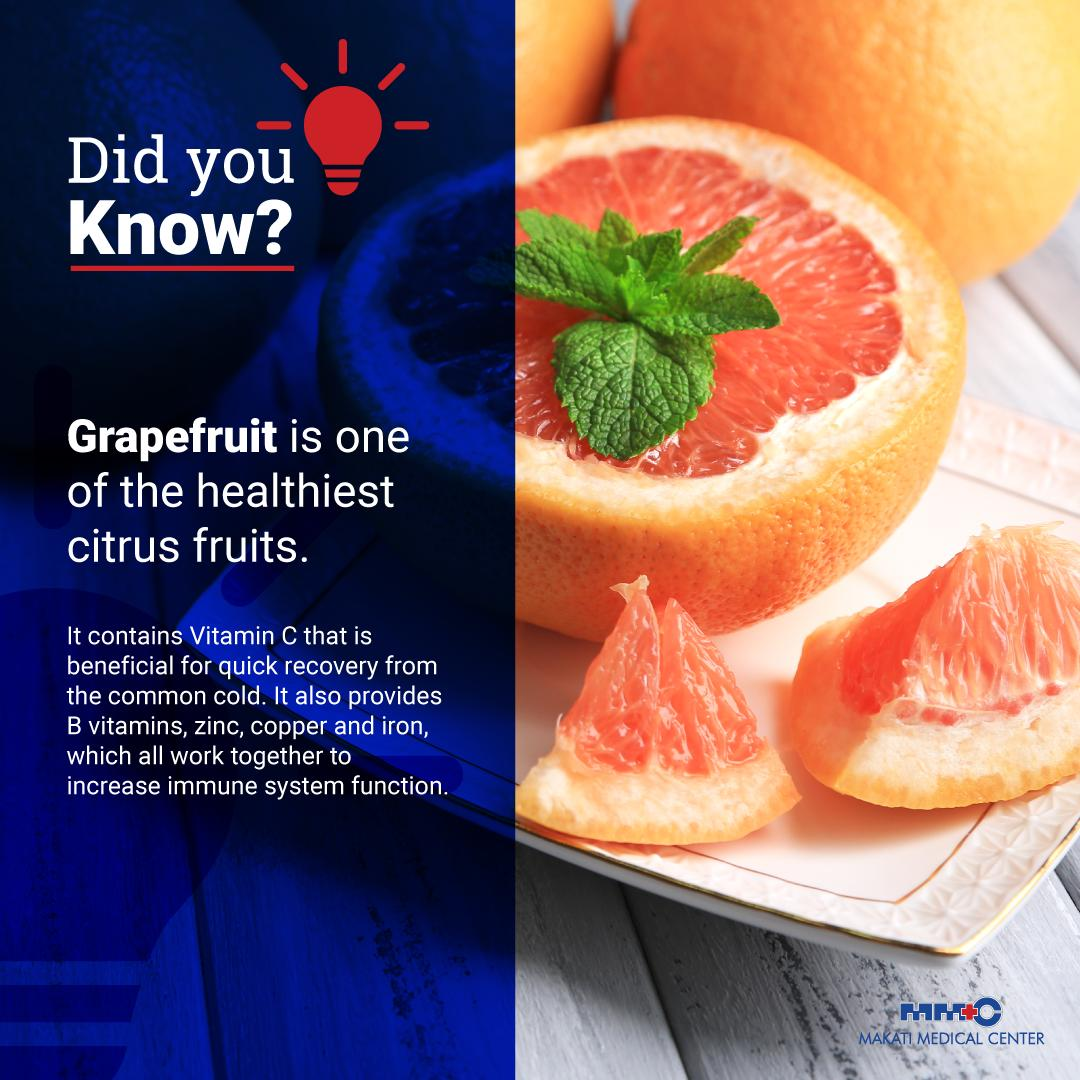 What is a popular citrus fruit that is also one of the healthiest ones? Its neither orange nor pomelo. Its no other than... grapefruit! If you wish to boost your immune system, grab a grapefruit!