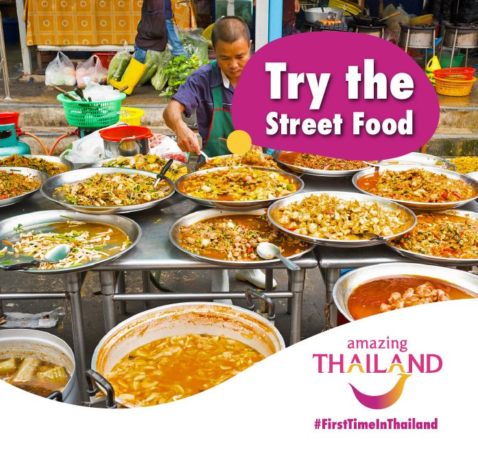 #FirstTimeinThailand Thailand boasts some of the best street food in the world! It only costs a couple of rand to fill your plate up with massive portions of Phad Thai, sticky rice and mango and Tom Yum Goong! #amazingthailandsouthafrica #thaifood #thaifoodloverpic.twitter.com/sJZTMM7RPO